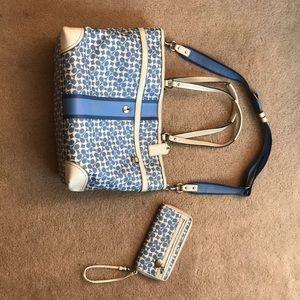 COACH diaper bag and wallet